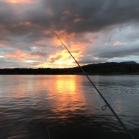 And the sun goes down on another pike fishing day