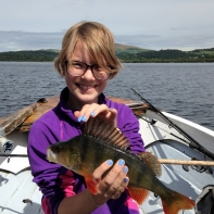 Recognise this Girl? Its that one again but now older and still outfishing us!