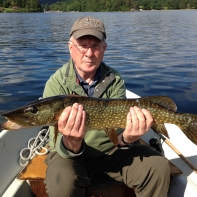 Meanwhile on Derwentwater John Toole with a nice one
