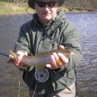 And a first wild trout on the dry fly!!