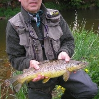 John Wylde and a grand Brown trout