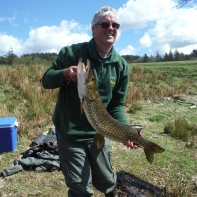 Stuart Watts and a bendy pike