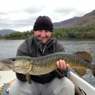 Steve Walsh and a nice one on a lure from Derwentwater
