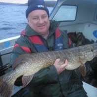 First of this winters bigger Pike